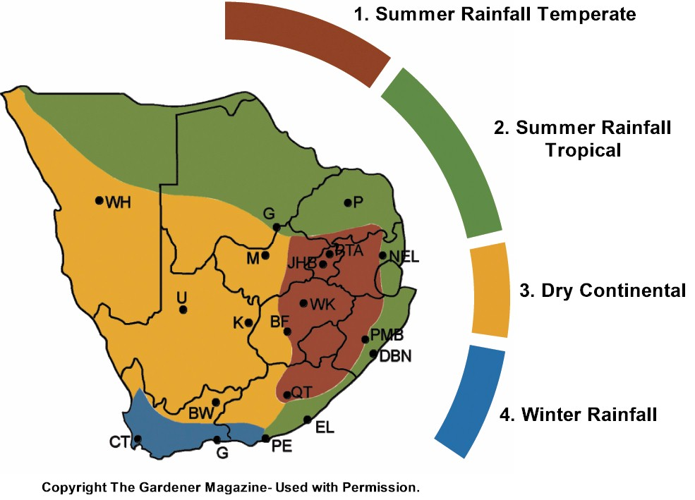 South African Vegetable Sowing Guide May - South africa regional map